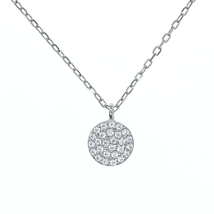 snyggt silverhalsband till tjej med stenar från Catwalksmycken