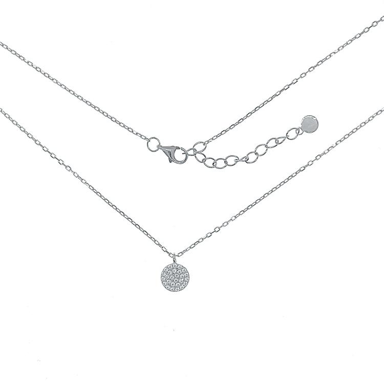 vackert halsband i silver för tjej med stenar från catwalk Jewellery