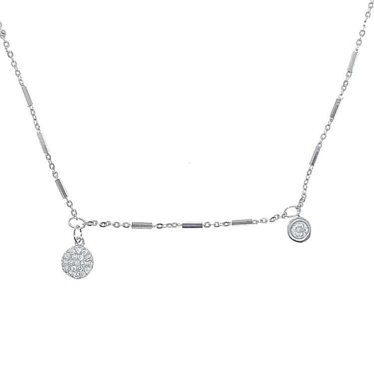 vackert halsband i silver med cz stenar från Catwalk jewellery