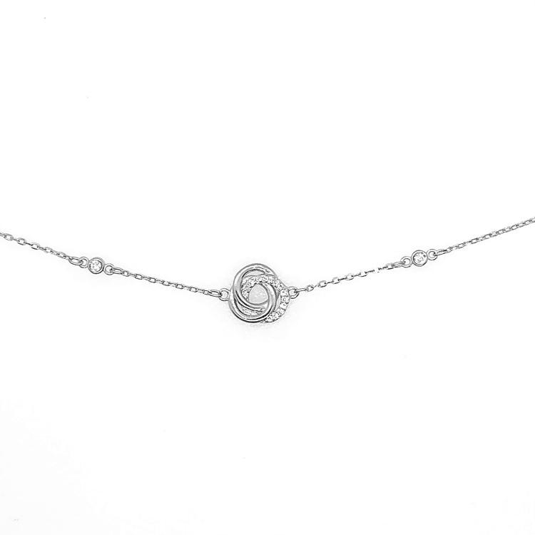 Armband Three Circles Sparkling Silver