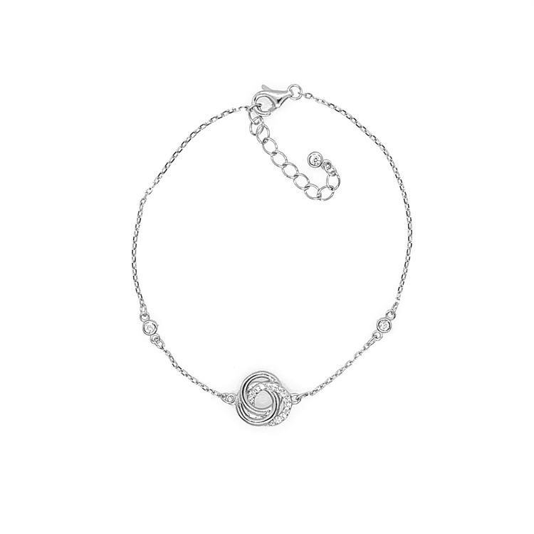 silverarmband till tjej med stenar från catwalksmycken
