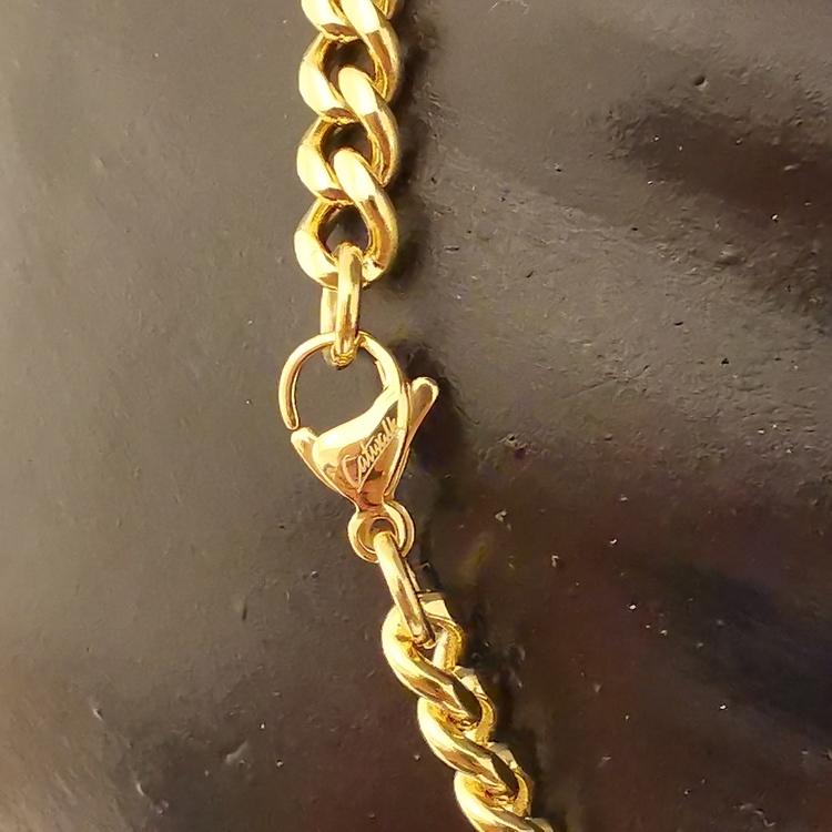 Halsband Pansar Förgyllt steel - 6,5 mm