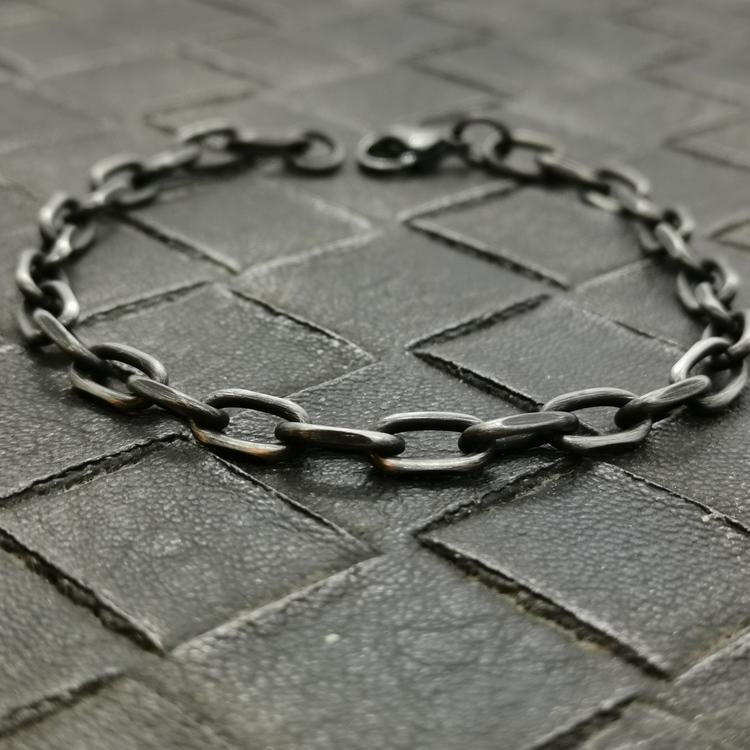 Armband Ankar Oxiderat steel - 6 mm