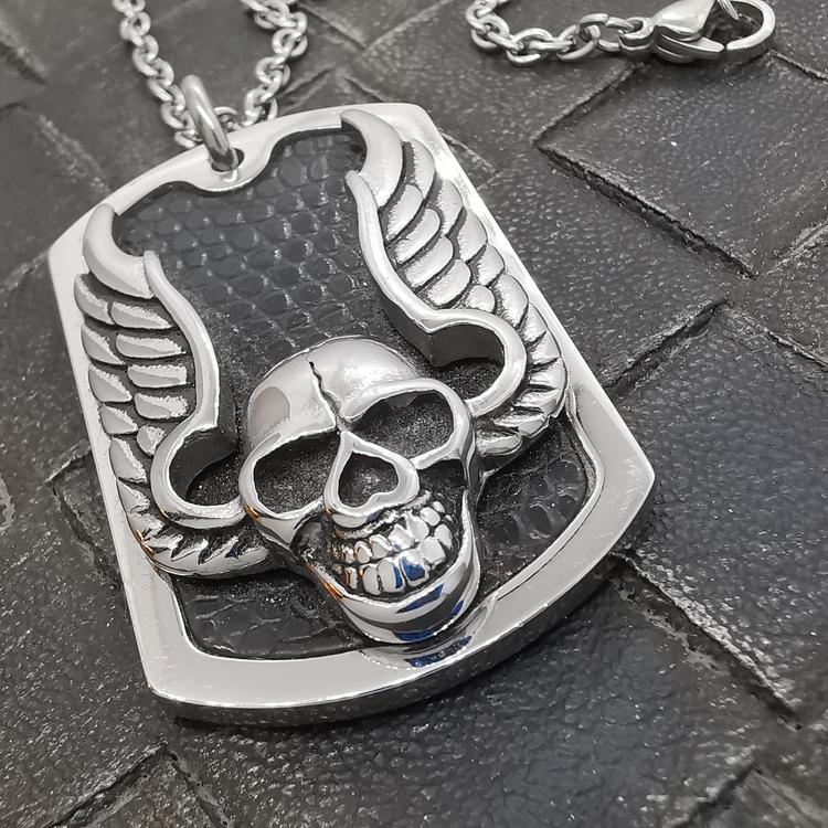 Halsband Dödskalle Steel