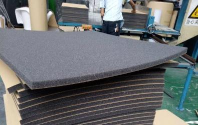 Ljudisolering SilentSwede® Flat 15mm. Tillverkning och förpackning.