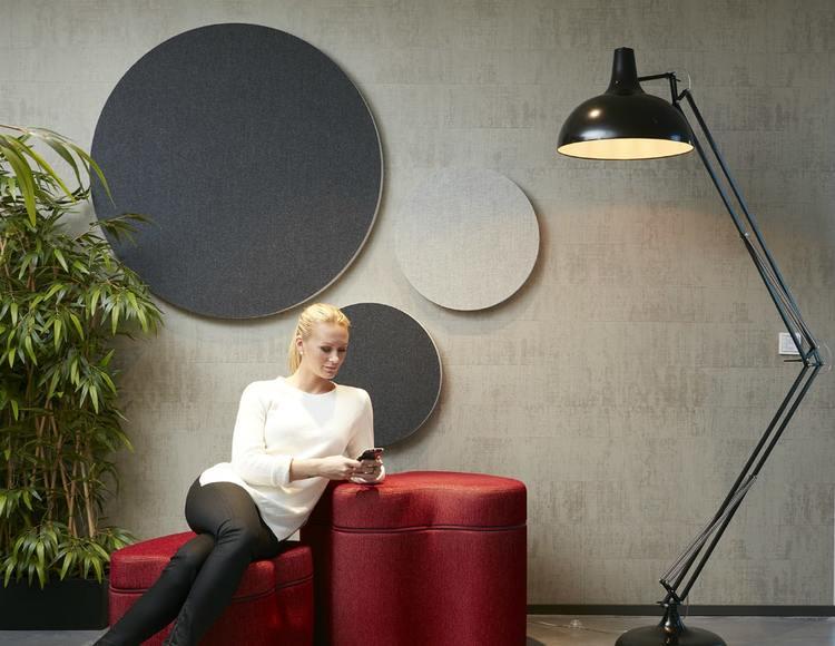 Ljudabsorbent till hem & kontor - Sound Off Cirkel till vägg