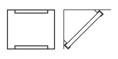 Ljudabsorbent till studio - Palett Diagonal