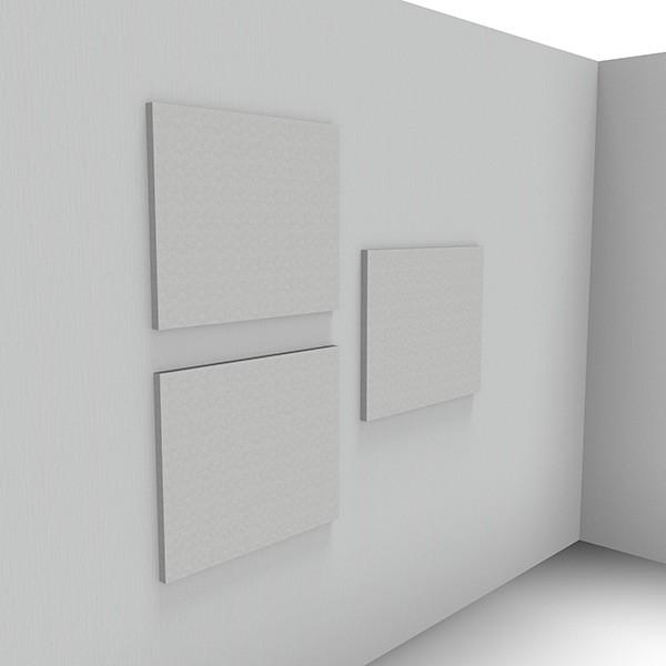 Ljudabsorbent till hem & kontor - Sound Off Rektangel till vägg. Mycket effektiv ljudabsorbent för upphängning på vägg bestående av återvunnet material. Tjockleken är hela 50mm