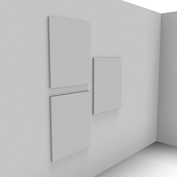 Ljudabsorbent till hem & kontor - Sound Off Kvadrat till vägg. Mycket effektiv ljudabsorbent till upphängning på vägg bestående av återvunnet material. Tjockleken är hela 50 mm