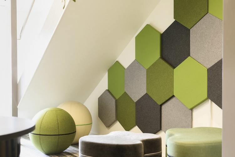 Ljudabsorbent till hem & kontor - Honey EcoSund väggabsorbent Ljudabsorbenter för vägg har god ljudabsorption för att förbättra akustiken i rummet.