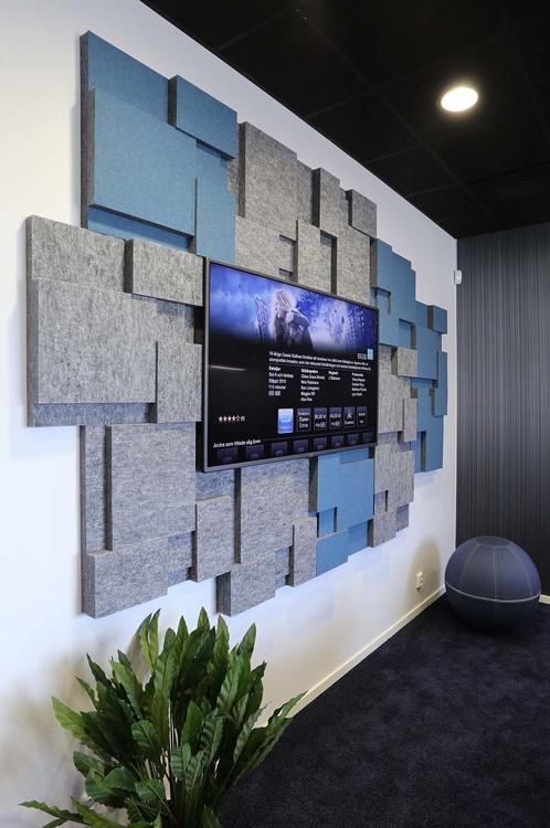 Ljudabsorbent till hem & kontor - Nivå EcoSund väggabsorbent
