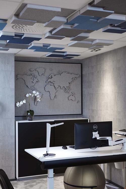 Ljudabsorbent till hem & kontor - Nivå EcoSund takabsorbent till innertak