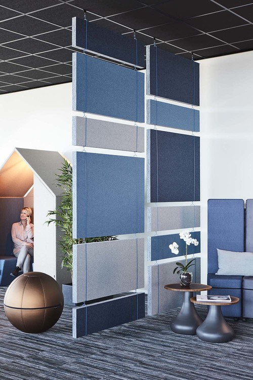 Ljudabsorbent till hem & kontor - Effekt EcoSund takabsorbent