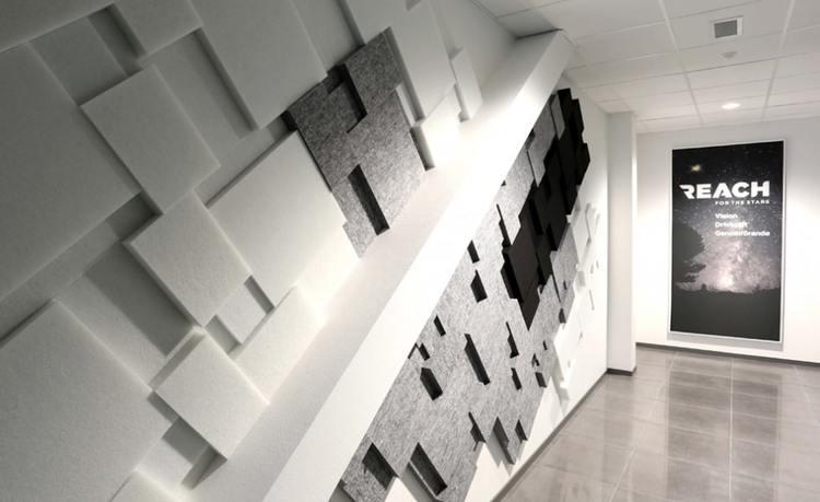 Ljudabsorbent till hem & kontor - Nivå EcoSund väggabsorbent. Ljudabsorbent från Nivå vägg förbättrar akustiken och bidrar till ett eget uttryck.