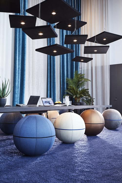 Ljudabsorbent till hem & kontor - Sound off  kvadrat till tak