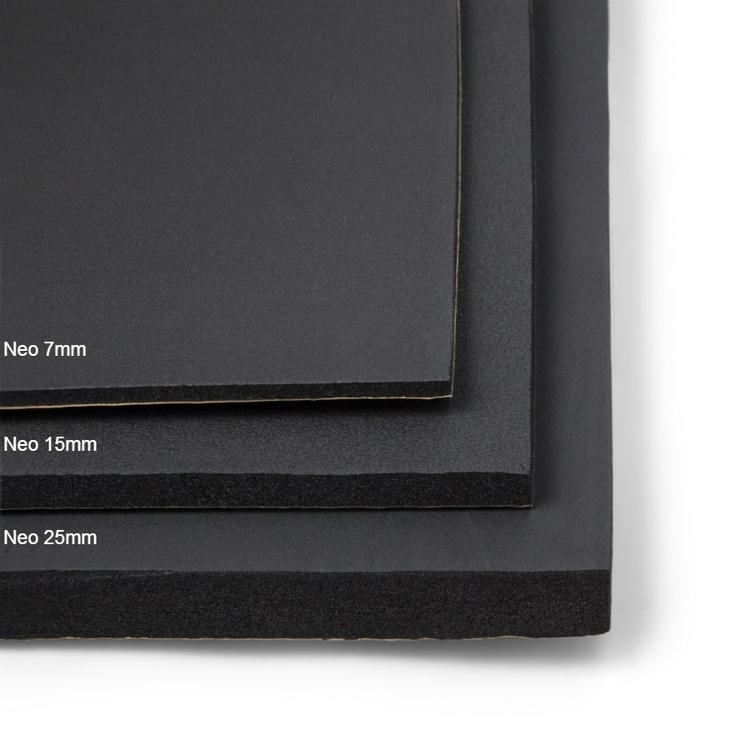 Självhäftande ljudisolering och ljudabsorbent till bil. SilentSwede Neo 7,15 och 25mm finns i flera storlekar och är enkel att montera.