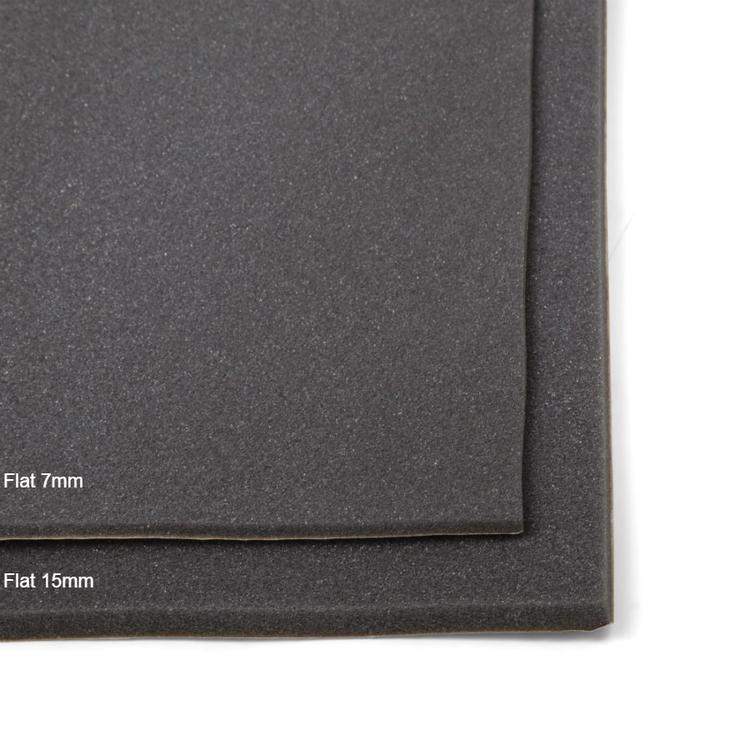 Självhäftande ljudabsorbent till kontor och hem. SilentSwede Flat 15mm och 7mm ljudabsorbent och ljudisolering. Ljuddämpning till kontor och hem.