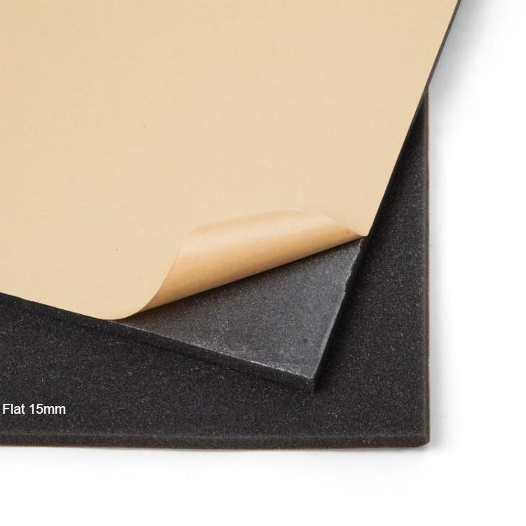 Självhäftande ljudabsorbent till kontor och hem. SilentSwede Flat 15mm ljudabsorbent och ljudisolering. Ljuddämpning till kontor och hem.