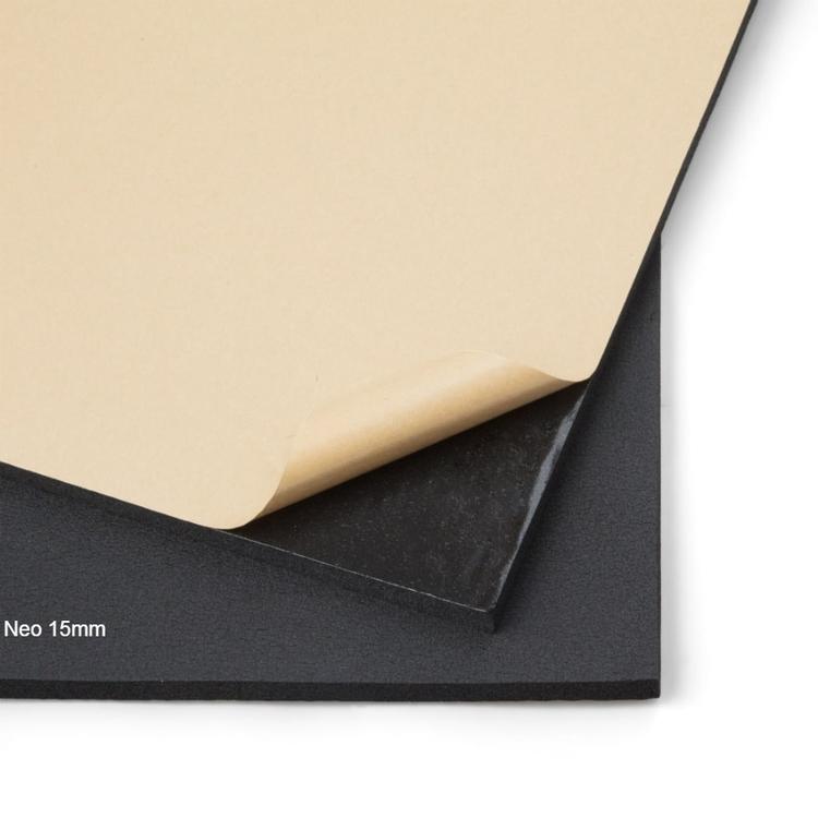 Självhäftande ljudisolering och ljudabsorbent till kontor och hem. SilentSwede Neo 15mm. Ljuddämpar, ljudisolerar och ljudabsorberar kontor och hem.