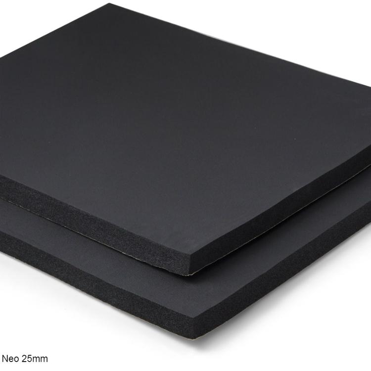 Självhäftande ljudisolering och ljudabsorbent till kontor och hem. SilentSwede Neo 25mm. Ljuddämpar, ljudisolerar och ljudabsorberar kontor och hem.