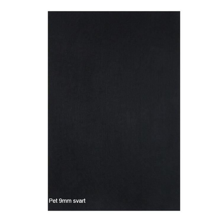 Självhäftande ljudisolering och ljudabsorbent till studio. SilentSwede Pet svart 9mm tjock. Miljövänlig och giftfri ljuddämpning till studio.