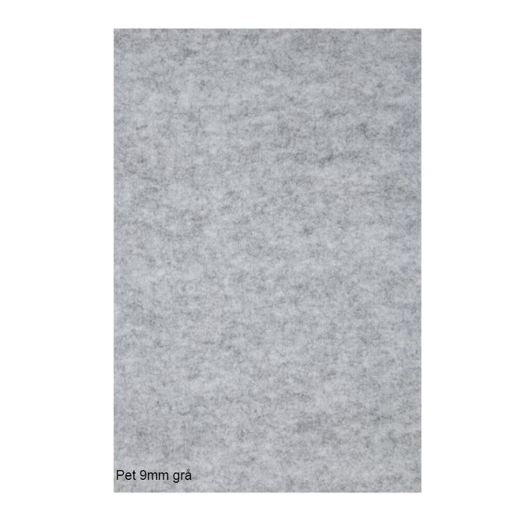 Självhäftande ljudisolering och ljudabsorbent till studio. SilentSwede Pet grå 9mm tjock. Miljövänlig och giftfri ljuddämpning till studio.