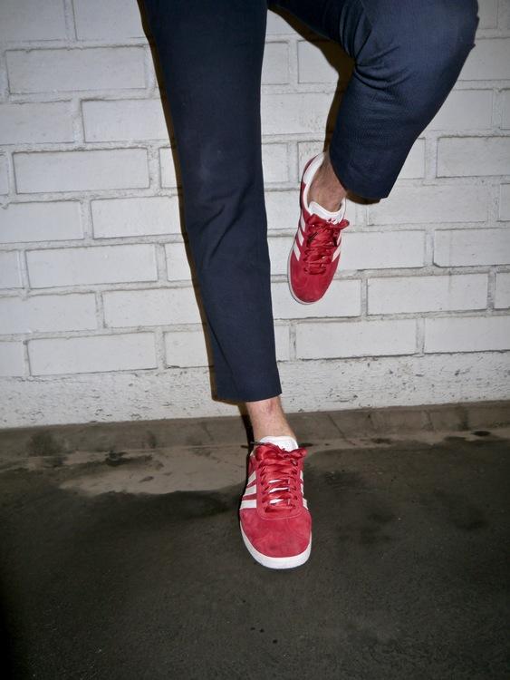 Röda siden skosnören från The Shoelace Brand Stockholm