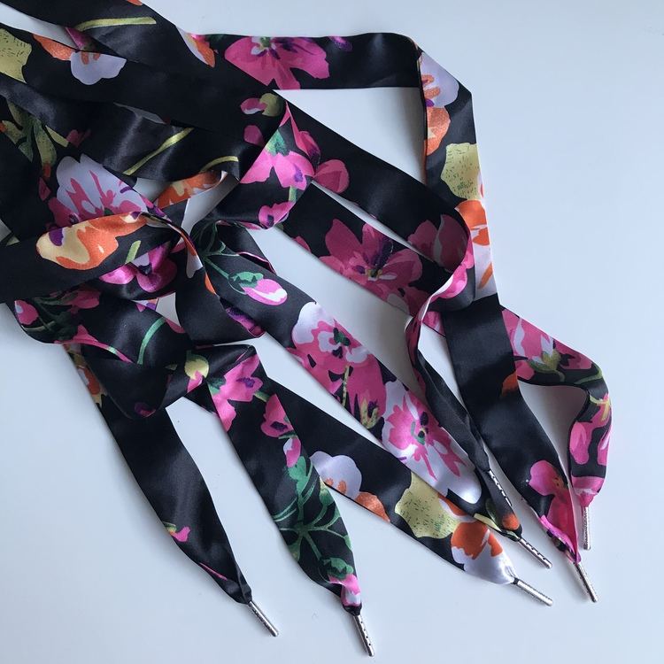 Flower Black Scarf