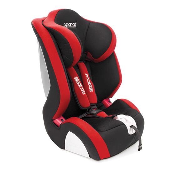Barnstol Sparco F1000K - Röd