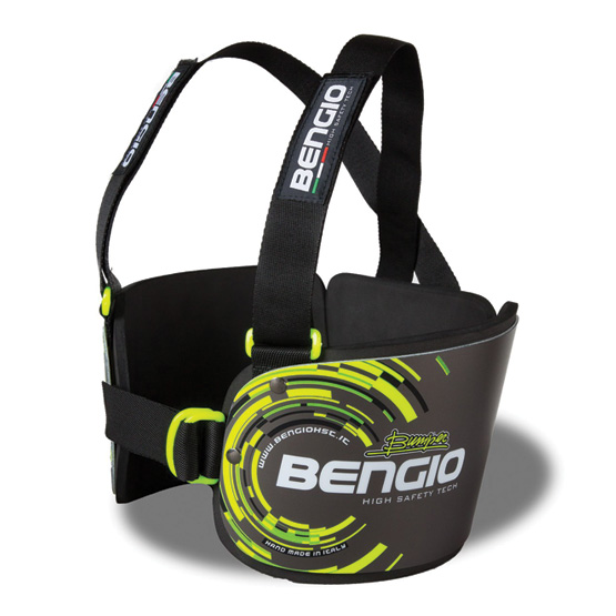 Bengio Bumper Standard Revbensskydd - Svart/Gul