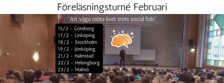 17/3 VÄSTERÅS - Öppen föreläsning om social fobi
