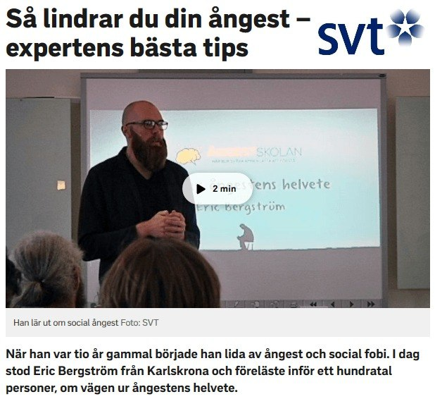 20/3 GÄVLE - Öppen föreläsning om social fobi