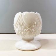 Skål vit opalinglas Glimma Glasbruk