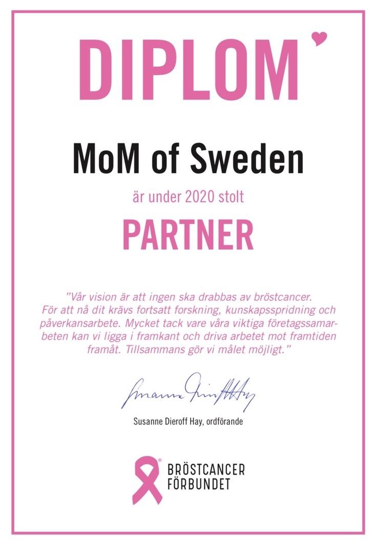 MoM of Sweden är partner till Bröstcancerförbundet