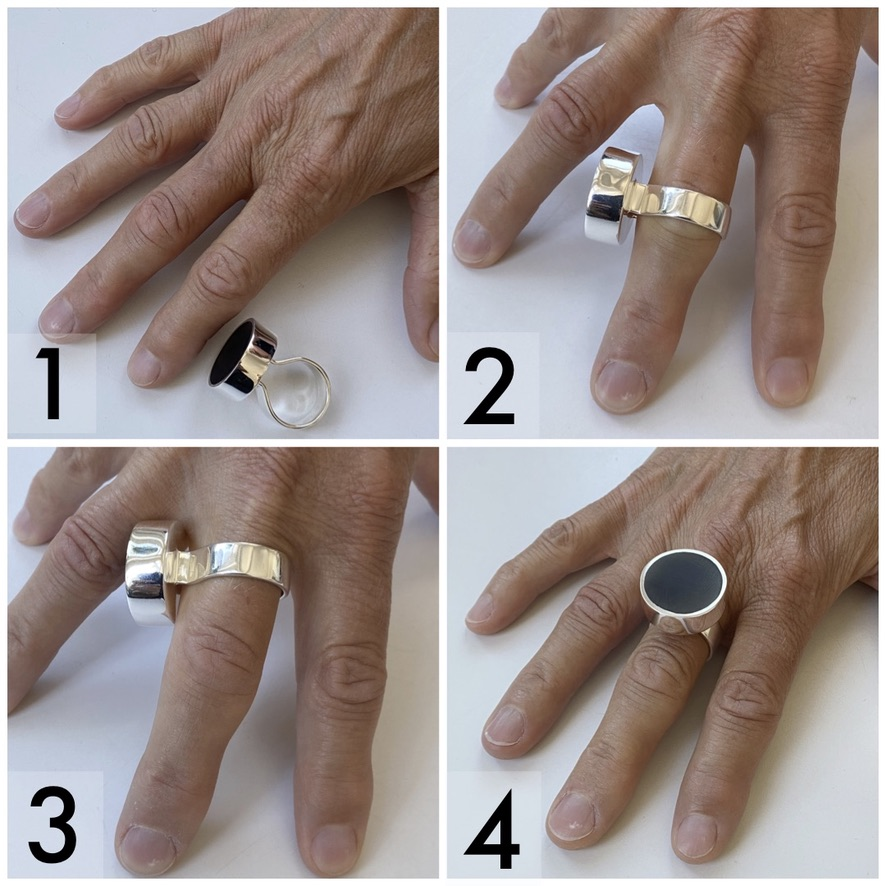 Silver rings that works for finger with bigger finger joints