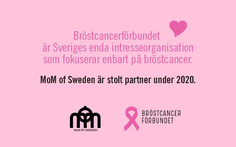 MoM of Sweden är stolt partner med Bröstcancerförbundet.