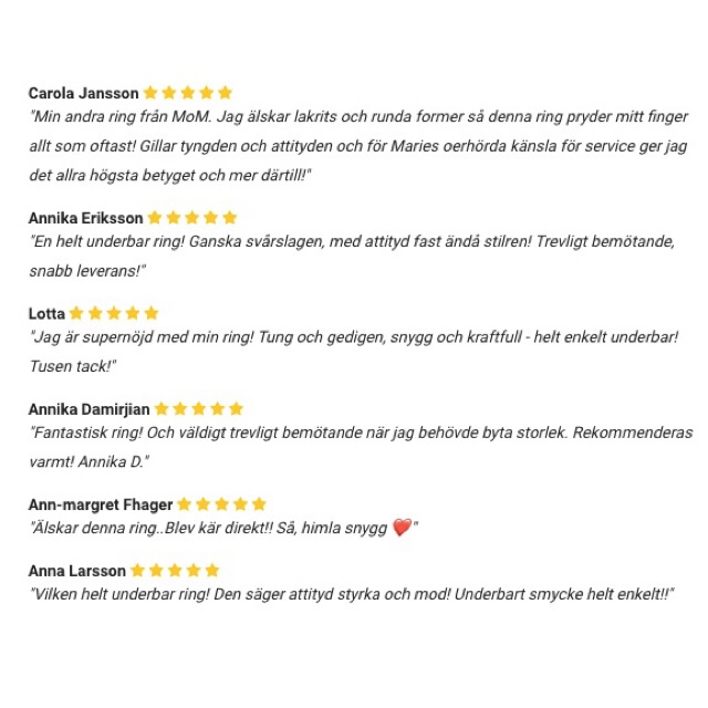 Kundomdömen. Customer reviews