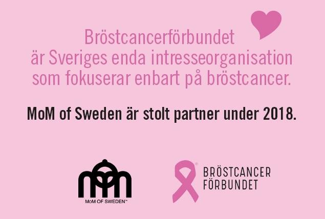 Bröstcancerförbundet, MoM of Sweden är stolt partner