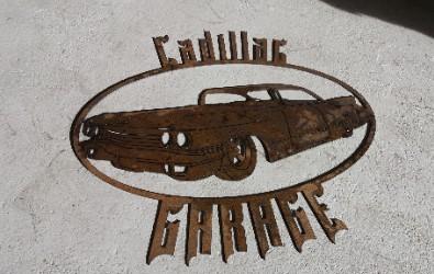 Cadillac Garage Skylt i plåt.