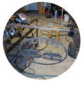 Tillverkning av gårdsskylt med hängfäste