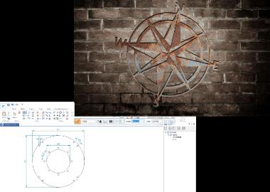 Exempelbilder på designarbete i datorn.