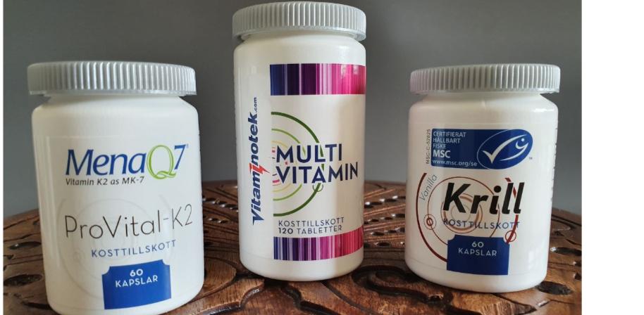 Varannan månad kommer du få ProVital-K2, Krill och Multivitaminen