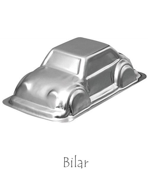 Tårtformar bilar