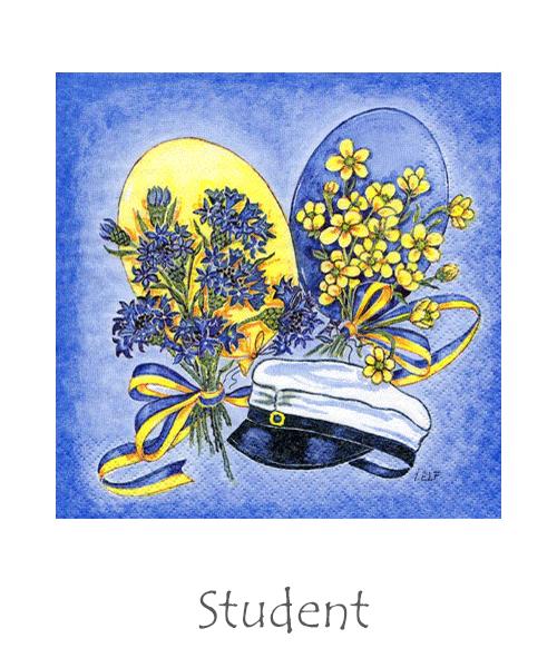 Bakformar och dukning till studenten