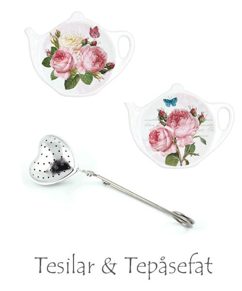 Tesilar och tepåsefat