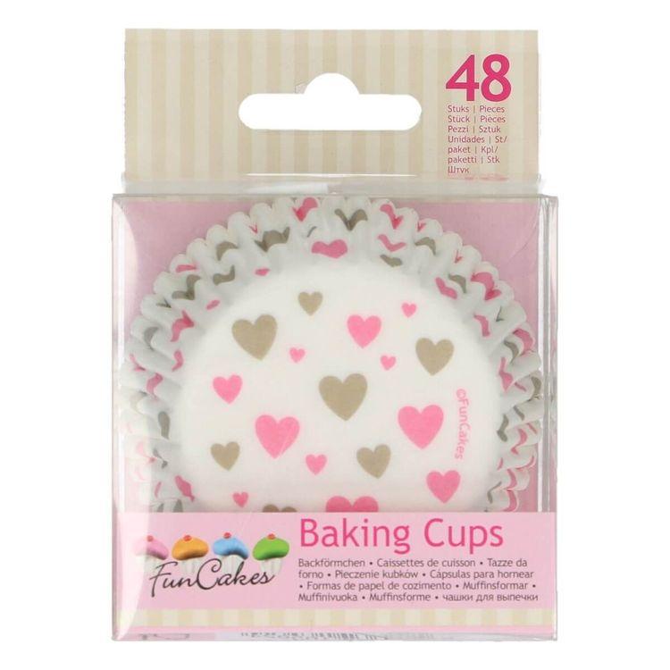 Muffinsformar Hjärtan Rosa och Guld