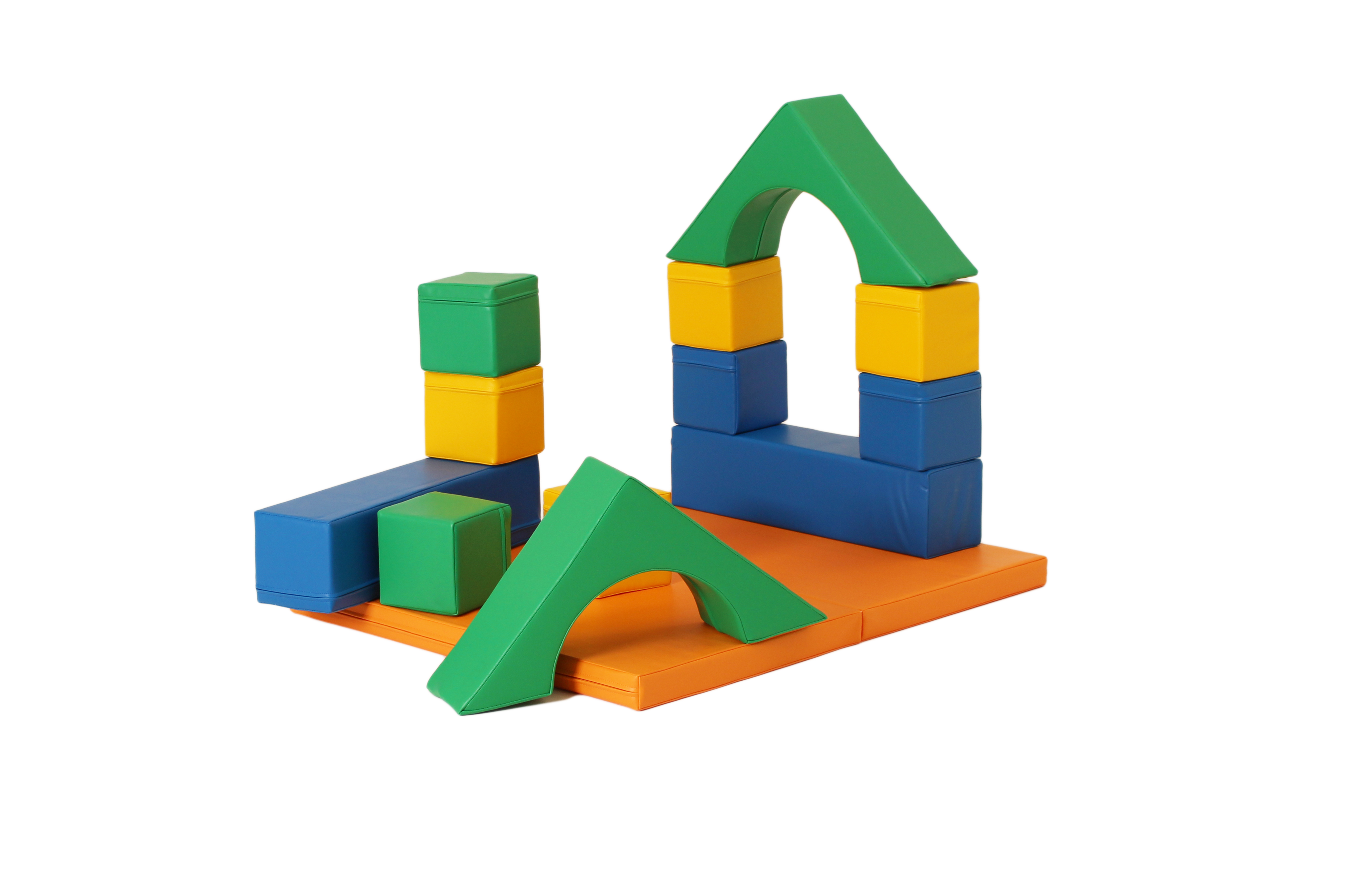 Byggklossar och byggkuddar