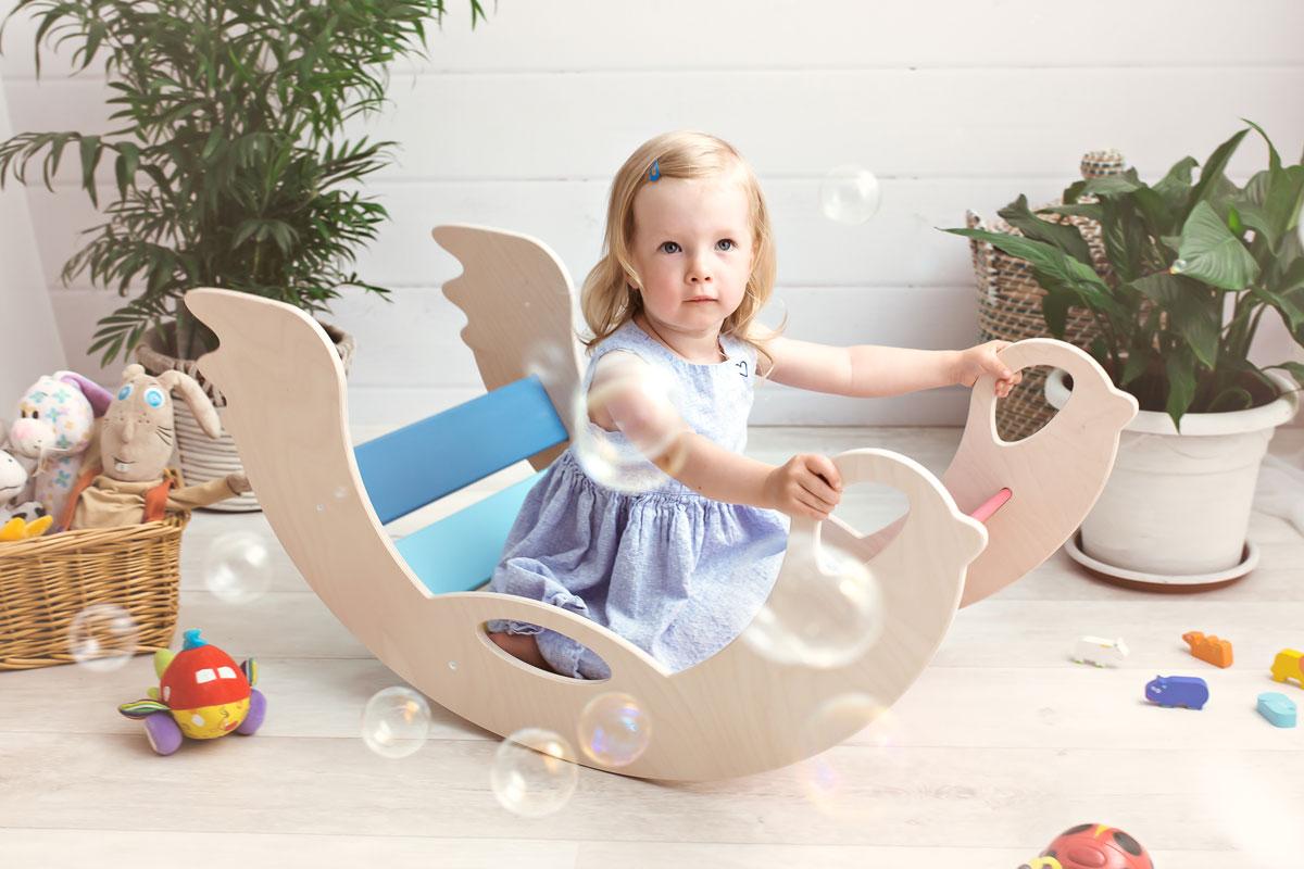Pedagogiska leksaker som utvecklar motorik - trägunga