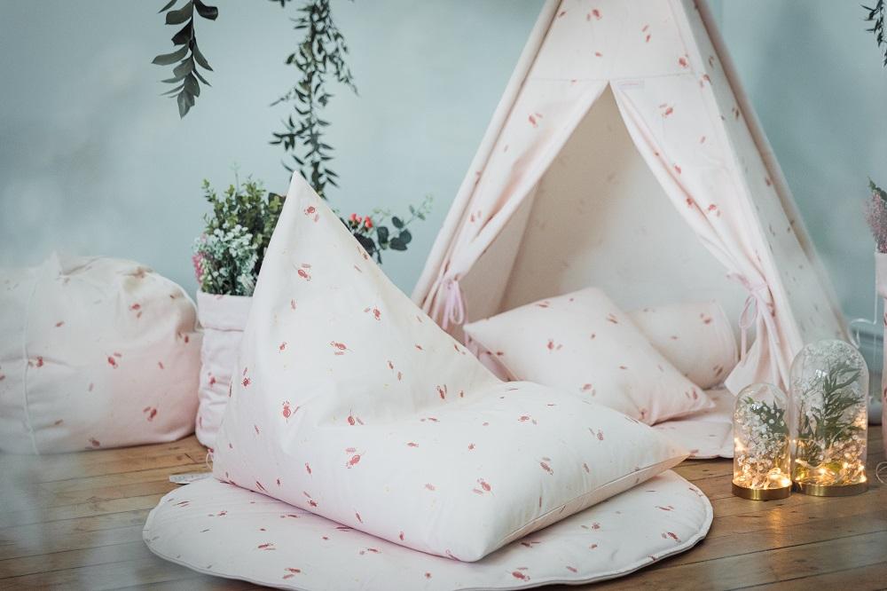 Myshörnan i barnrummet - Tema Rosé