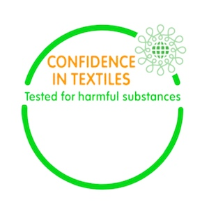OEKO-TEX® --- The STANDARD 100 by OEKO-TEX® is a comprehensive, third-party testing and certification system for textile products at all stages of production. Textiles can only be certified if all components meet the specified requirements. Test criteria are updated annually and go far beyond existing legal regulations. You can read more at https://www.oeko-tex.com Think green if you know what we mean!